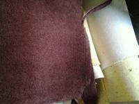 Empire Reddish Brown Plush Carpets are $100.00 a set.