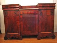 A handsome Empire sideboard with fine figured mahogany