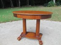 PRICE LOWERED!!  Nice Empire style oval library table.