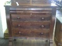 Remarkable Empire Flame Mahogany Cabinet. This is a