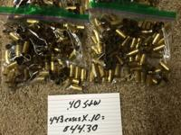 I have the following empty, cleaned brass for sale in