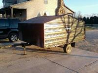 i have a nice enclosed 2place snowmobile trailer half