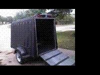 Enclosed lightweight trailer - tows very smoothly, even
