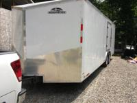 ROADWAY MASTER 2009 ENCLOSED CAR TRAILER, 24 FT BOX