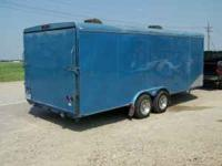 This is a 1992 Crescent Enclosed Car trailer. It is a
