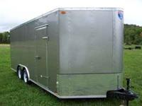 "2012 Enclosed Trailer***18'x102"" wedge nose...(20ft"