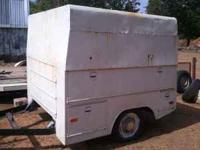 Solid little cargo trailer with new tires and storage