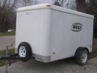 Good used enclosed trailer with good tires including