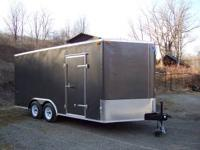 "2012 Enclosed Trailer...7000 lb. GVW. 102""x16' (approx."