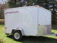 ENCLOSED DELUXE V-NOSE ALL ALUMINUM CARGO, ATV,