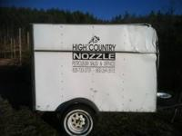 4x6 enclosed trailer. Has some damage but is
