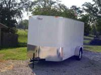 New Pace American 6x12 V-front enclosed trailer, white
