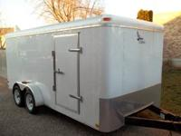 7x16 Lark 2007 Enclosed Cargo Trailer Ramp Door,Side