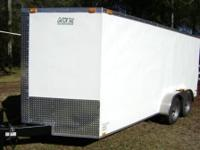 New 7x16 Enclosed trailer with ramp door and side door