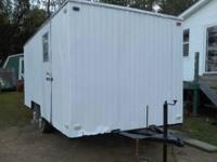 enclosed utilty trailer 16x7, pulls nice, could b useed