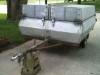 4 1/2 foot wide by 7 foot long trailer. It can be used