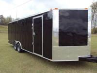 "Brand New 2014 8'6"" x 24' Long x 6'6"" tall V-Nose Front"