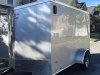 3 Months Old! 6x10 Enclosed V-Nose Cargo Trailer;