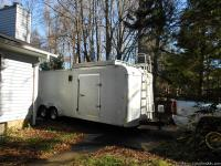 2002 Hallmart Enclosed Trailer. Dimensions are 24'x7'
