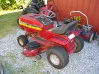 18HP RIDING MOWER WITH 46 INCH CUT. MOWS AND CUTS GOOD.