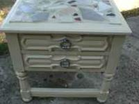 Hand crafted end table mosaic style $40 1- ..Facebook