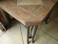 I have for sale a stone tile end table $5, a Weber mini