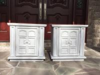 End tables (2) 85.00 for both   Painted gray ...good