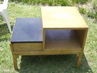 i have 2 mahogany end tables for sale. it has a pull