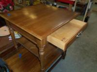 END TABLES SETOF 2 BLOND WOOD IN GOOD CONDITION $25.00