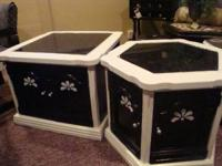 Hand crafted end tables $80 Firm..Dining table W/ 4