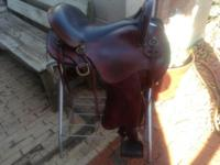 The is a nice saddle very comfortable 17 inch padded