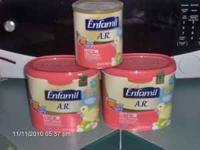Enfamil A.R. Formula (2) 22.2 oz containers with a