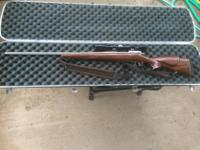 A Sporterized .30-.06 rifle in good condition. I