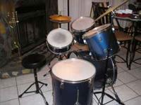 7-Piece Enforcer Drum Set. Includes throne and a set of