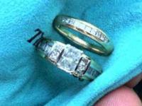 Wedding Band + Engagement Ring Set- Amazing Deal