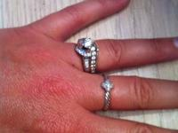 Beautiful engagement/wedding ring.  Broke up with the