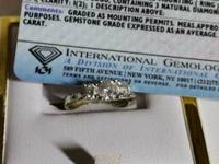 I have a 3 stone engagement ring for sale or trade only