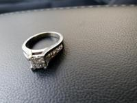 14karate white gold band 1carate tw in diamonds