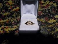 For Sale-Beautiful Wedding-Engagement set.  Yellow gold