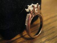silver engagement ring originally purchased from kay