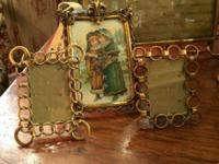 English Brass Link Picture Frames $125 and up Clutter