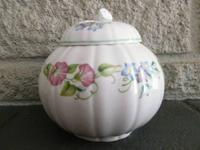 English Garden Ginger Jar with Lid 1983 Royal