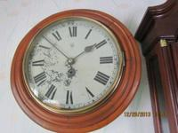 "English Keywind Gallery Clock  17"" in diameter with 12"""