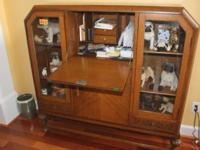 Excellent English combination desk, bookcase, display