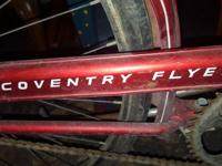 old english racing bicycle rusty flat tire 140 or best