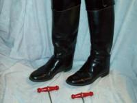 Women's English Riding Boots Black Size 7C Made in