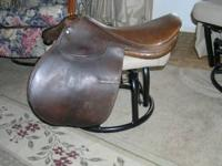 English Riding Saddle--NO IRONS EXCELLENT CONDITION!