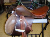 "Stubben Siegfried Saddle- 17"" seat with stainless steel"