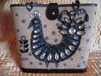Purse by Enid Collins of Texas featuring a jeweled