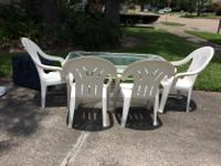 Type: Patio Table and Chairs Barely used patio table